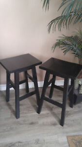 Wooden Bar Stools - Set of two