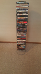 DVD Storage Rack with moves.
