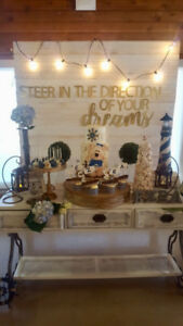 White Washed Wooden Backdrop Party Wall 7ft high x5ft wide