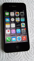 BLACK IPHONE 4S 8 GB CELL PHONE WORKS TELUS,KOODO,PUBLIC MOBILE