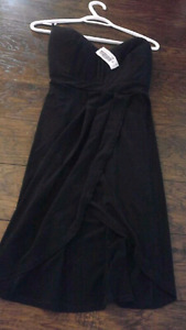 NEW WITH TAGS Size medium little black strapless dress