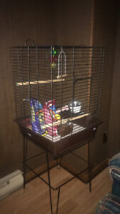 "Brand new 68"" by 38"" love bird / parrot cage with stand :)"