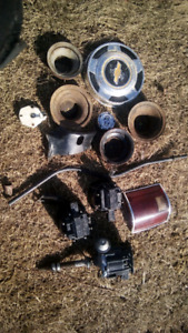 Chev distributor parts various other old square body pieces