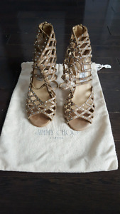 Jimmy Choo Stilleto Rhinestone Shoes. Size 7 1/2