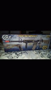 air soft pistol and AK 47