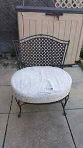 Wrought iron patio chair
