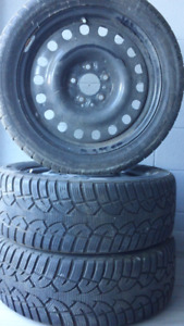 2 Tires and 2 rims 215 50 R17 Altimax