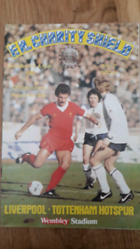 Liverpool v Spurs 1982 charity shield programme.