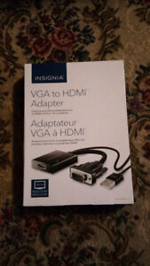 VGA TO HDMI ADAPTOR IN LIKE NEW CONDITION FOR A GREAT DEAL!!!!!!