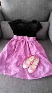 Girls size 6 dress and size 9 sparkle shoes Peterborough Peterborough Area image 1
