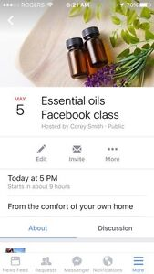 Free online essential oil class.