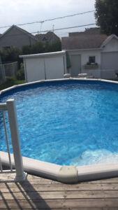 """Grande piscine ovale 24"""" à vendre"""