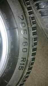 205/60R15 winters on BMW rims!!