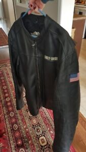XXL Harley-Davidson black leather jacket