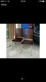 Valnut two chairs verry good condition free delivery only local