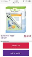Bumgenious diaper sprayer. New