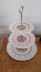 Bone China 3-tier  pastry stands