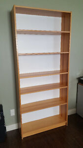 Pine Bookshelf and Cabinet Set