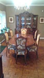 Solid Wood, 8 piece dining room set for sale