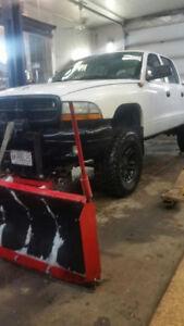 Dodge Dakota with plow