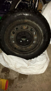 (4) 205/65R16 WINTER/SNOW TIRES WITH RIMS