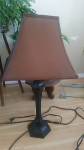 Brown Oxide Iron Lamp with chocolate brown shade