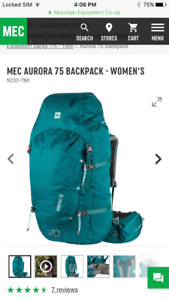 MEC 75L BackPack. Price negotiable