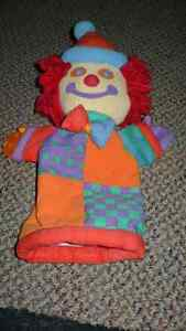 "VINTAGE ADORABLE ""GYMBOREE"" ""GYMBO"" PLUSH CLOWN HAND PUPPET"
