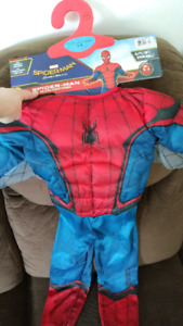 Spiderman muscle costume-brand new!