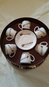 12 Piece Cappachino Coffee Cup Set