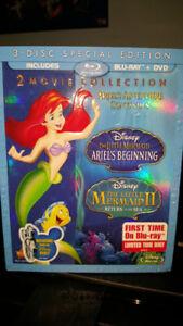 THE LITTLE MERMAID ARIELS BEGINNING DBL FEATURE BLURAY  DVD NEW