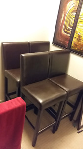 Four Bar Height Dining Chairs