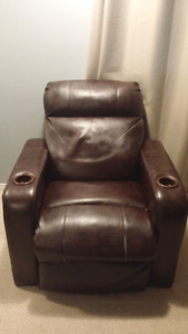 Full reclining leather chair