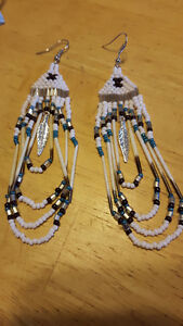 Beautiful Hand-made Porcupine Quill Earrings