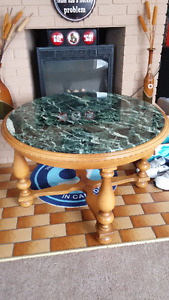 Solid marble table.