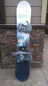 Lightly used snowboard + bindings
