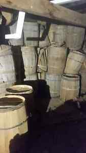 Apple Barrels and staves