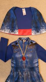 Disney Descendants Evie costume 5-6 yrs fancy dress up Cape top & tro