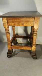 Rare Letterpress Turtle Table - Early 1900's Industrial Cart OBO