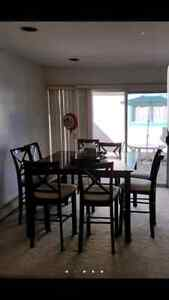 Bar Type Dining table with 8 chairs