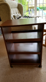 Mobile Side Table with shelves.