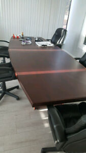 boardroom conference table - real wood