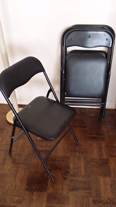 4 Black Folding Chairs