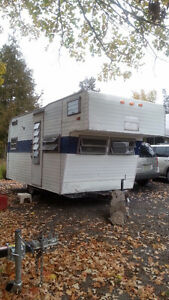 Vintage Travel Trailer -  Rare, 1969? Cab Over Style