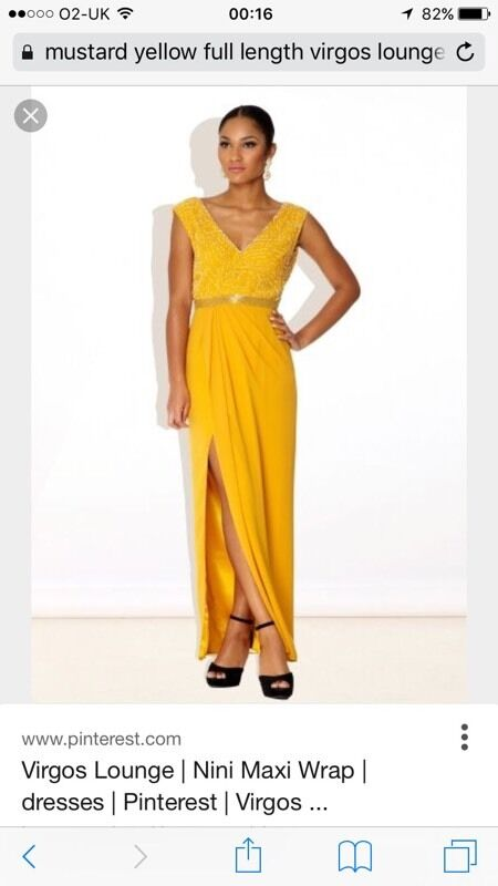 Virgos Lounge Yellow Evening Dress In Kings Lynn Norfolk Gumtree