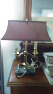 LOVELY LAMP WITH A BURGUNDY SHADE