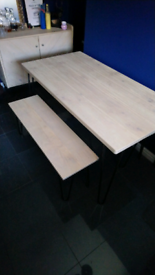 NEXT Bench table and sideboard