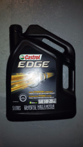 4 bidons d'huile 5 litres full synthétique 5W-20 Castrol EDGE