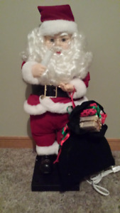 "29"" Deluxe Santa Animated Lighted 18 Carols"