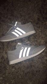 Grey adidas la trainers